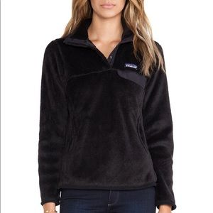 Patagonia Re-Tool Snap Pullover Black Fleece